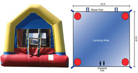Want to rent a Large Bounce House? Click Here!