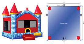 Want to rent a Camelot Castle Bounce House? Click Here!