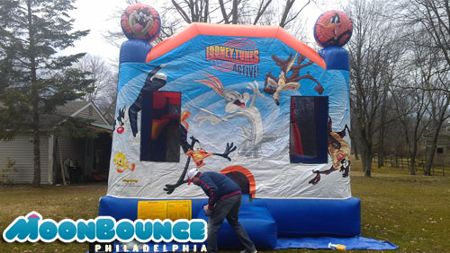easter moon bounce