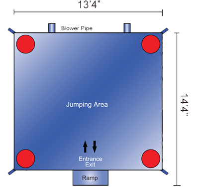 Dimensions of Large Castle Bounce House