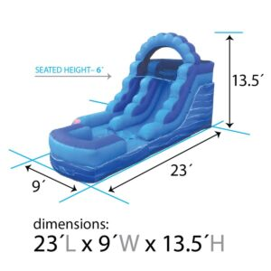 12' Blue Marble Inflatable Water Slide1