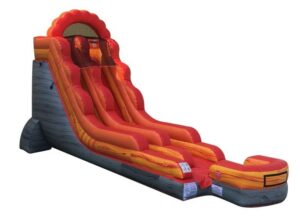 18' Fire Red Marble Inflatable Water Slide