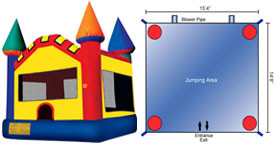 Want to rent a Castle Bounce House? Click Here!
